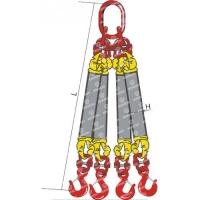 Строп текстильный круглопрядный четырехветвевой