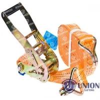 Стяжные ремни UNION Lifting с натяжным устройством и крюками