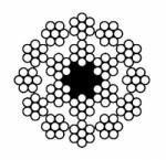 Канат двойной свивки многопрядный типа ЛК-О(В3) – ГОСТ 7681-80