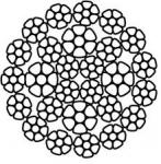 Многопрядный канат с пластическим обжатием прядей FlexPack (Reda