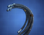РВД в металлической защитной спирали