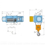Таль Тип MH7-25 ПОЛИСПАСТ 2/1; Г/П 5 Т; В/П 33 М