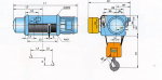 Таль Тип MH6-25 ПОЛИСПАСТ 4/1; Г/П 10 Т; В/П 15 М