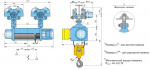 Таль Тип MH6-16 полиспаст 2/1; г/п 3.2 т; в/п 37.5 м