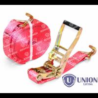 Ремень стяжной UNION Lifting для крепления груза 1,5/3,0т с крюками (35мм)