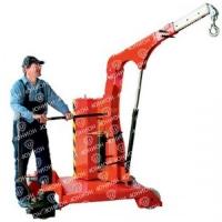 Гидравлический кран с противовесом и поворотной стрелой (Самоходный с электроподъемом) - 1500 кг.