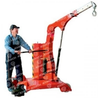 Гидравлический кран с противовесом и поворотной стрелой (Самоходный с электроподъемом) - 750 кг.