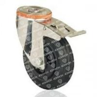 Колесо промышленное поворотное под болт с тормозом