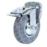Колесо аппаратное поворотное под болт с тормозом