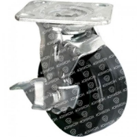 Колесо большегрузное обрезиненное поворотное с тормозом