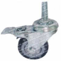 Колесо аппаратное с болтом (М 10) и тормозом, мягкая резина