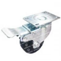 Колесо нейлоновое термостойкое поворотное с тормозом